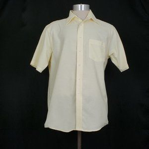 Vintage 80s Yellow Short Sleeve Button Front Shirt